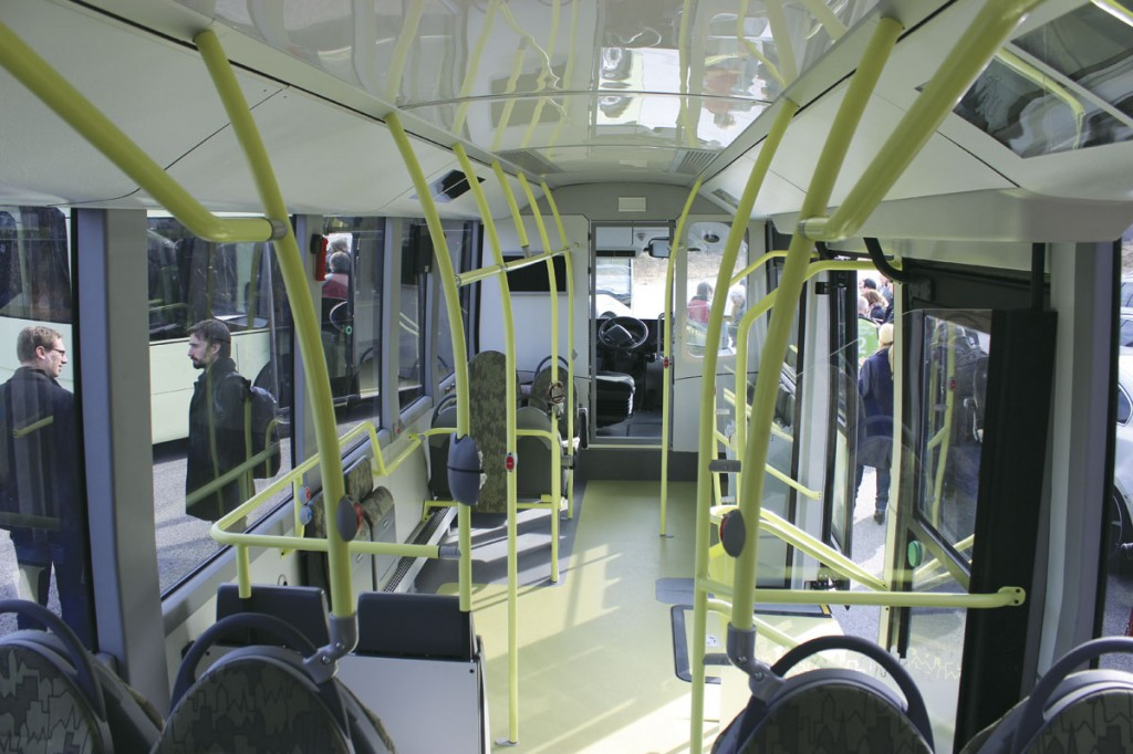 The saloon from the rear. In this shot the cab door, which is not yet finalised, is not installed.