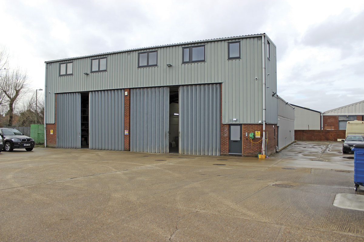 The newly refurbished repair facility in Gosport