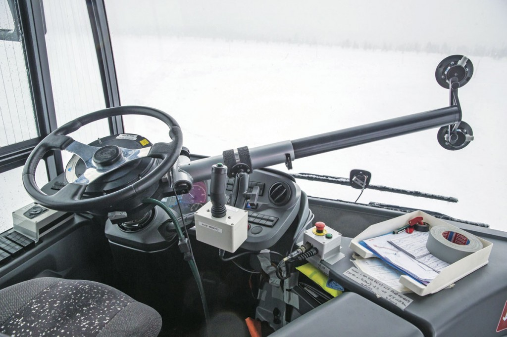 This device exactly replicates the steering action taken by the driver and enables precise comparisons to be made