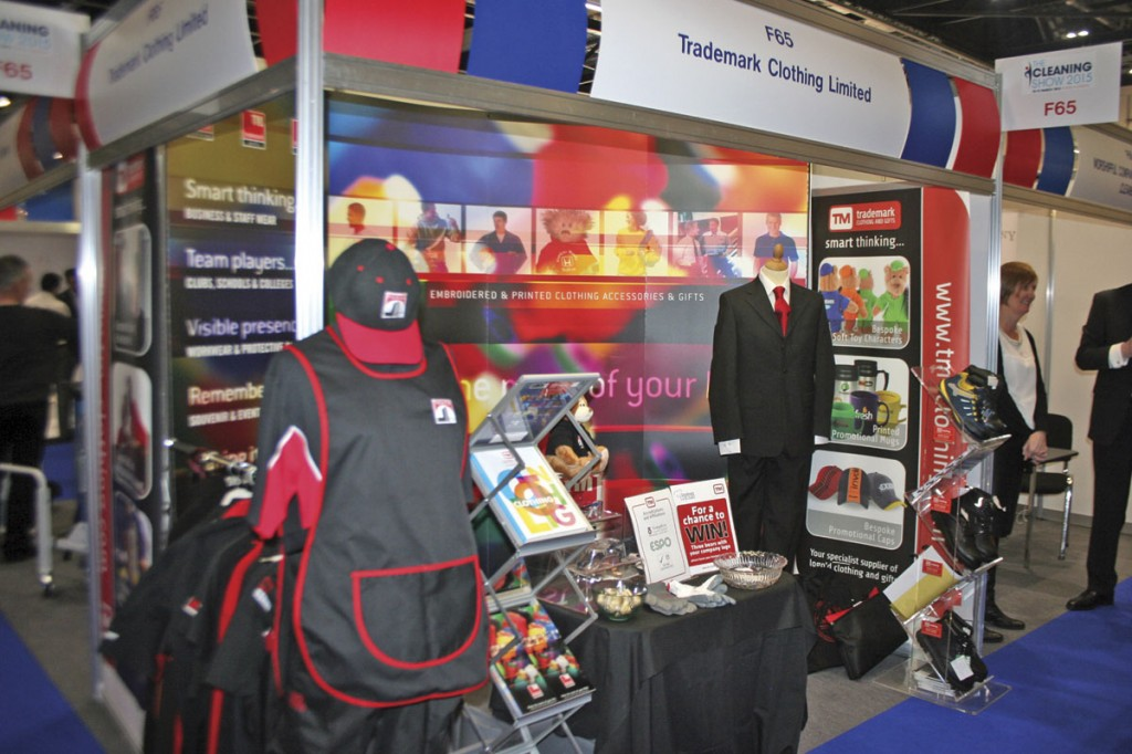 Trademark Clothing's stand