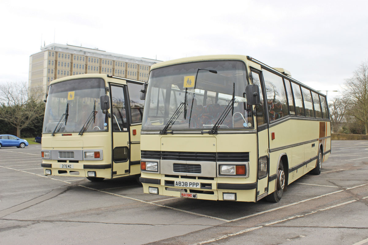 Two Bedford Plaxton Paramount 3200s