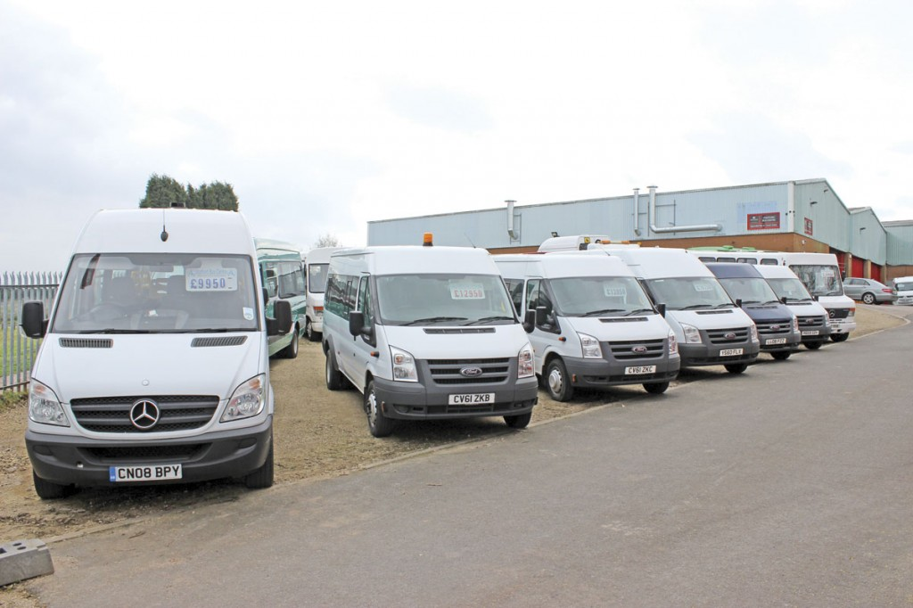 A good variety of Ford Transit, Sprinter and Vario based minibuses is offered