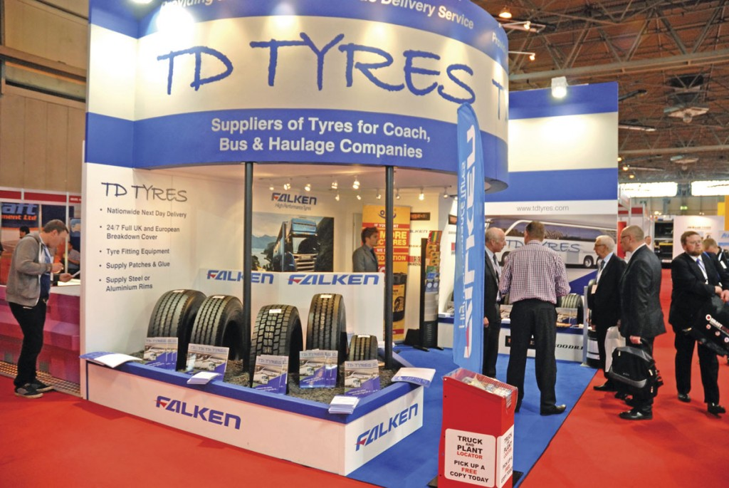 A very busy TD Tyres stand