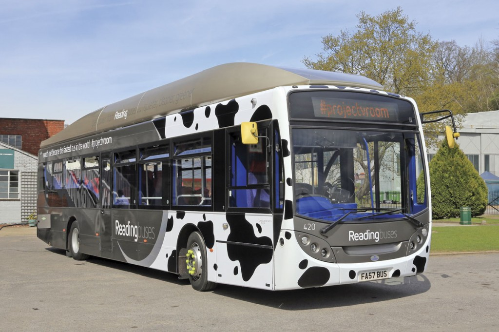 Best Impressions have designed a Friesen cow inspired wrap for the Scania-ADL gas bus to be used in the record attempt