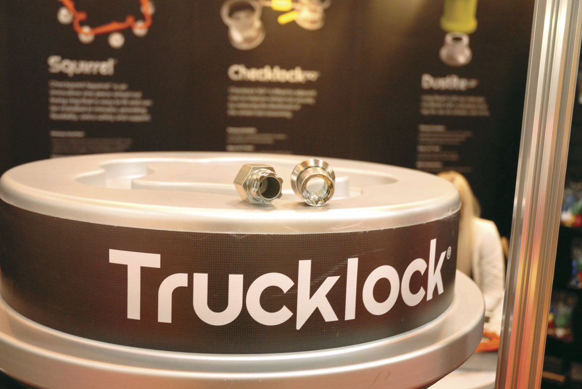 Checkpoint presented its Trucklock wheel anti-theft locking nut and key