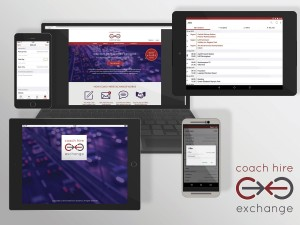 Coach Hire Exchange available on laptops, desk tops, tablets and mobiles