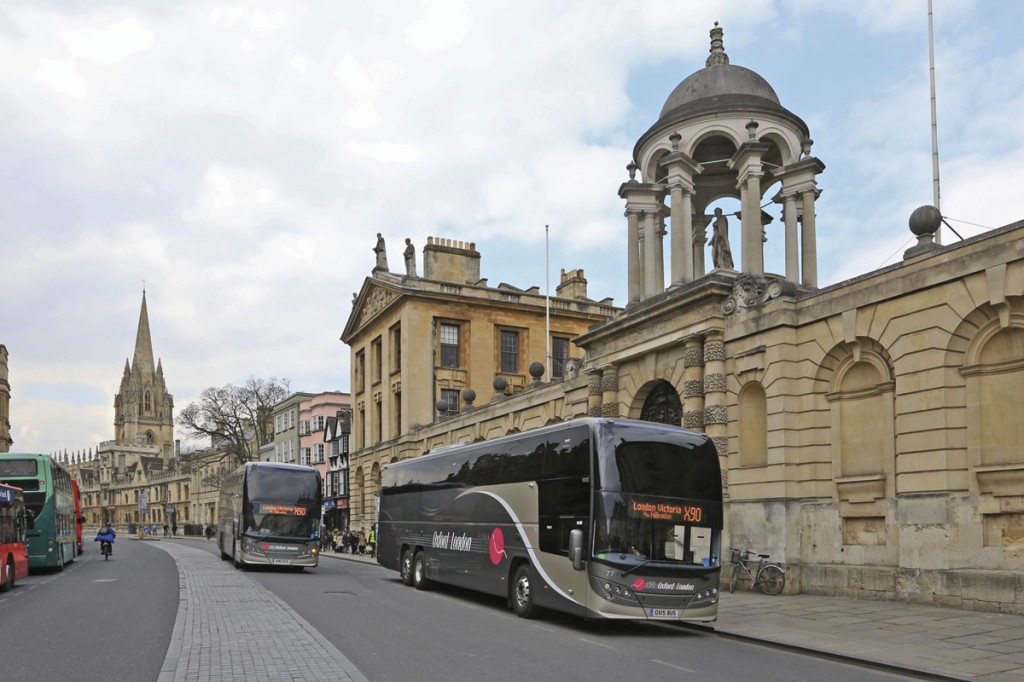 Environmental considerations are high on the agenda in Oxford where classical architecture lines the High Street used by all buses and coaches heading for the east of the city