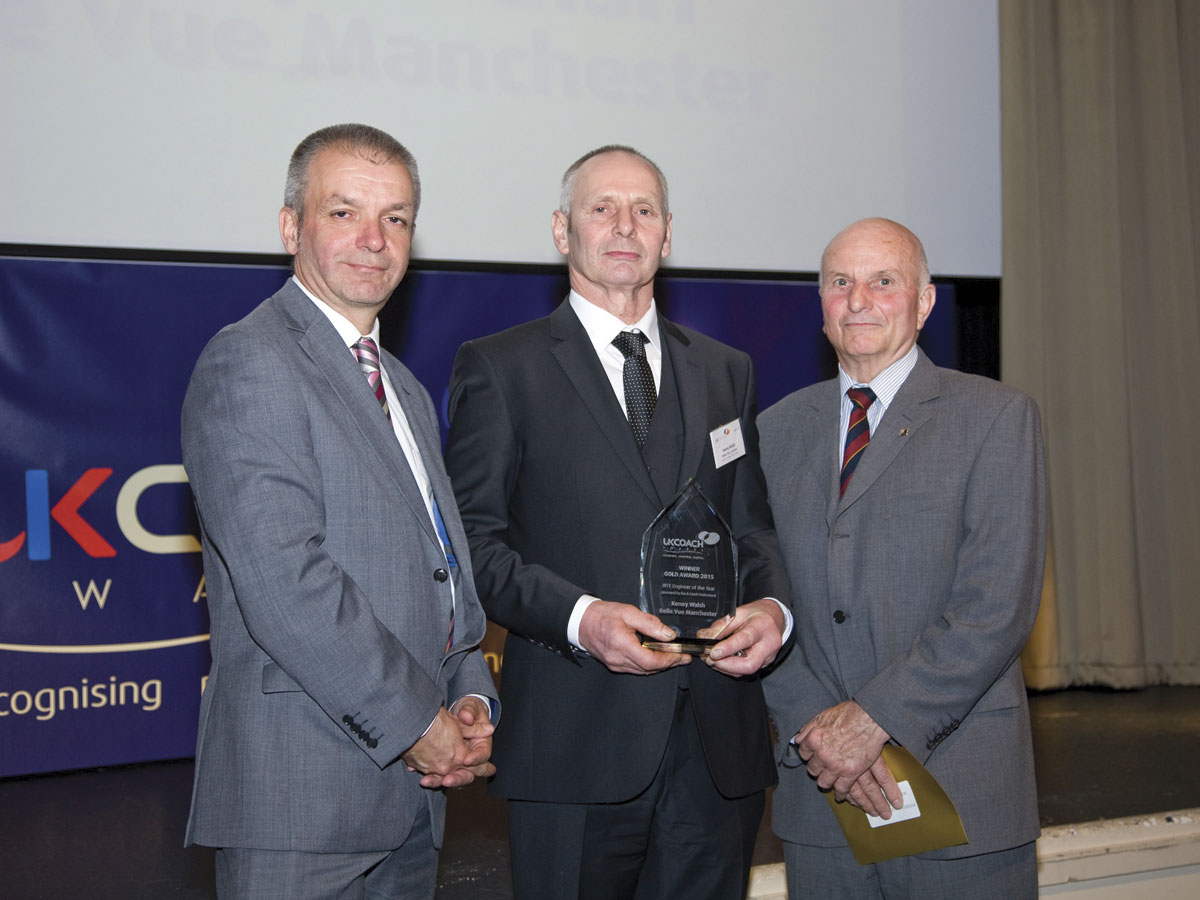 Kenny Welsh of Belle Vue was the IRTE Engineer of the Year