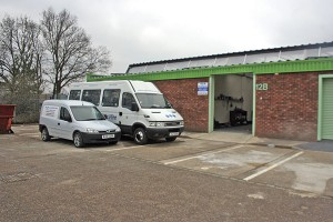 M&J Minibus's fleet and unit. The Vauxhall van is used for general runarounds