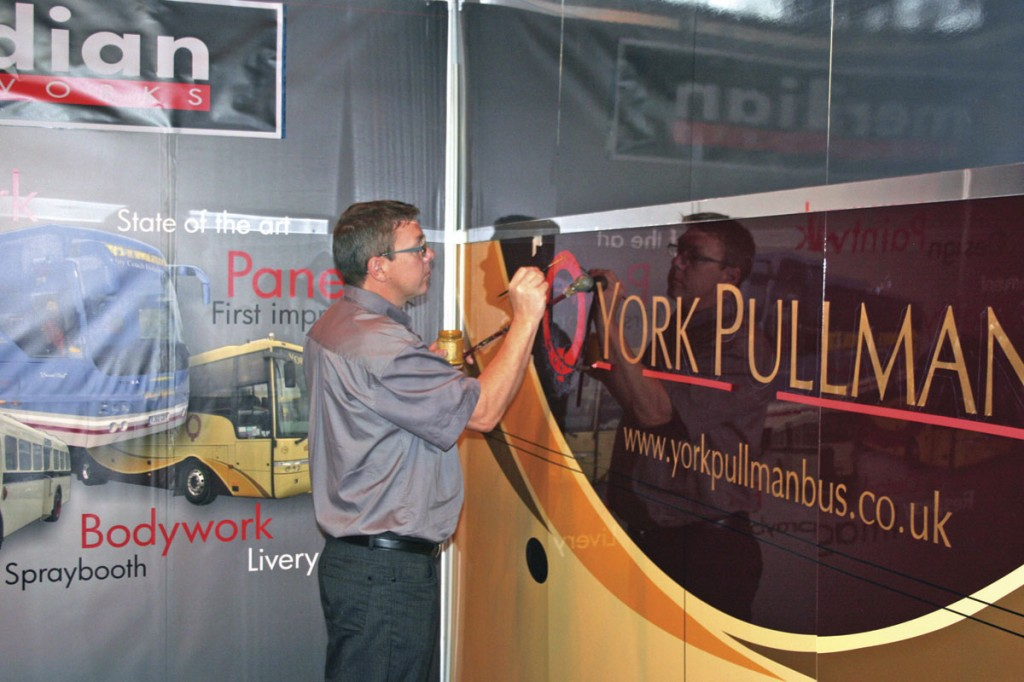 Meridian can help spruce up a vehicle's bodywork with its painting facilities. The company also has the skills to carry out sign writing