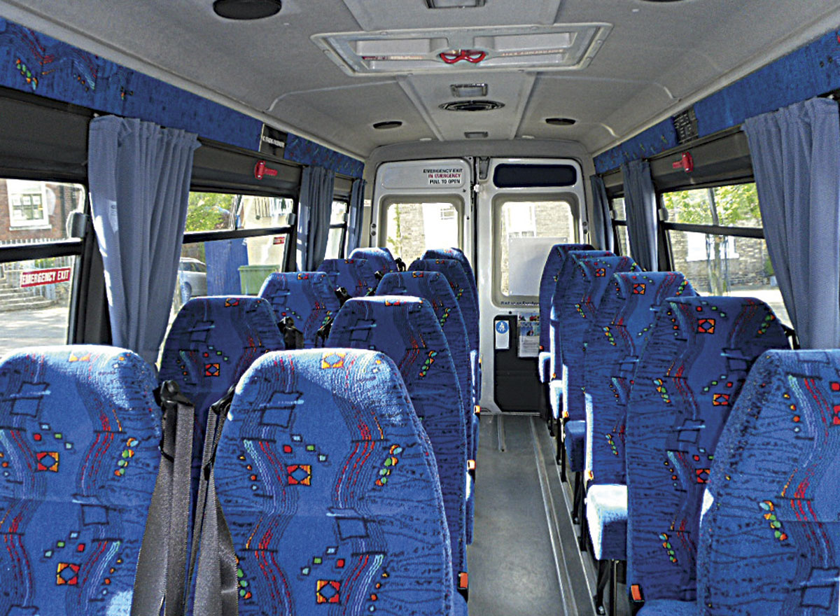 Mike fully refurbished the interior of the Iveco, converting it from a five seater to a 16-seater