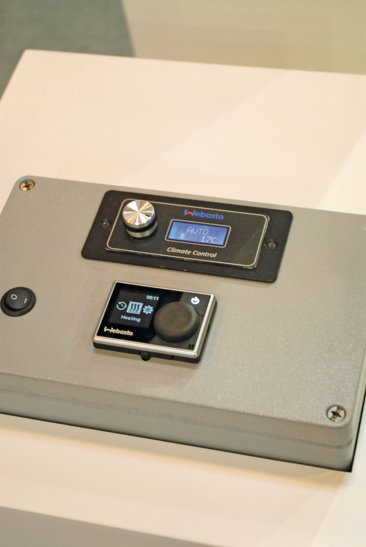 New control panels were displayed by Webasto