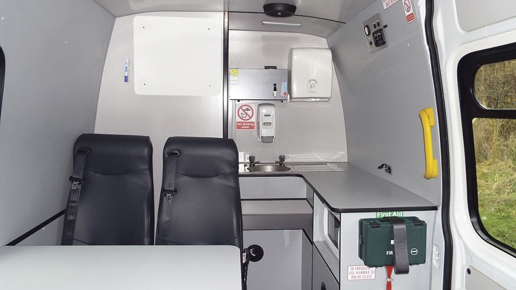 One of O&H Vehicle Conversions' range of mobile welfare units.
