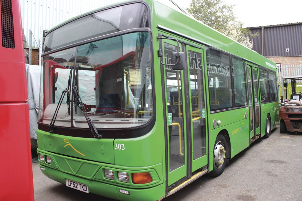 One of five similar DAF SB120 Wrightbus Cadets formerly with Western Greyhound. They are both Eminox equipped and DDA compliant