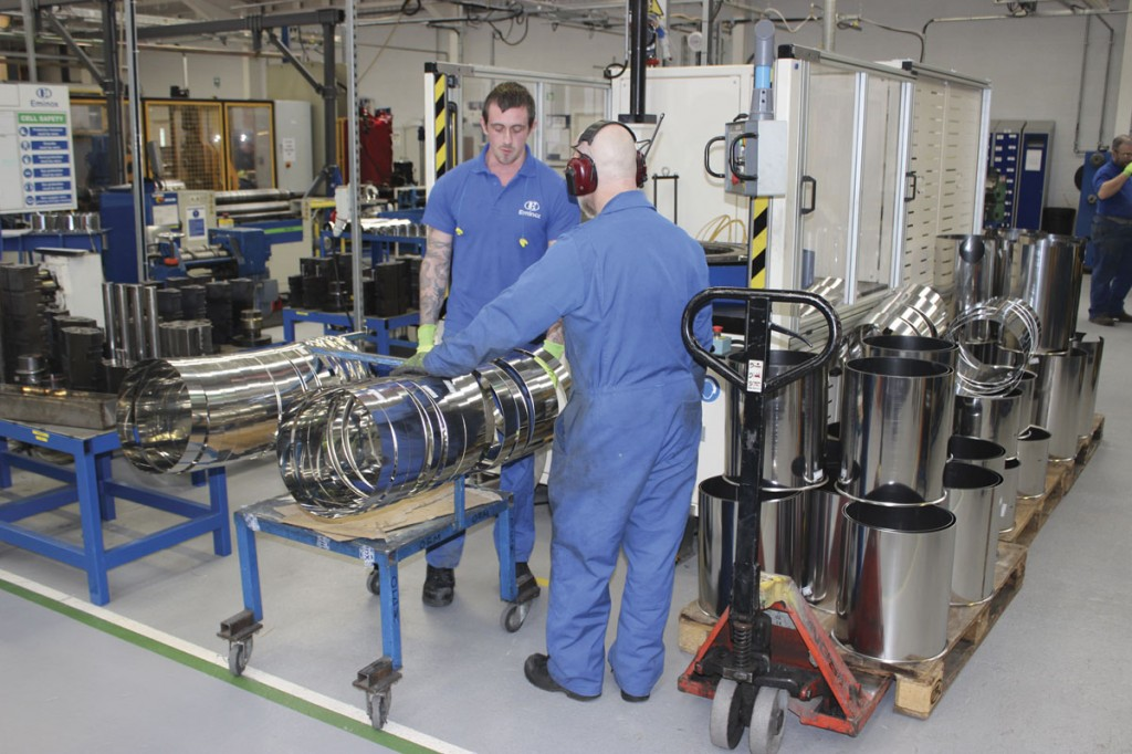 Producing the cans for emission control systems at Eminox