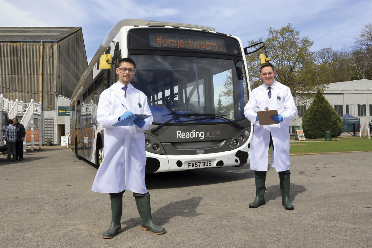 Reading Buses CEO. Martijn Gilbert (right) and Chief Engineer, John Bickerton