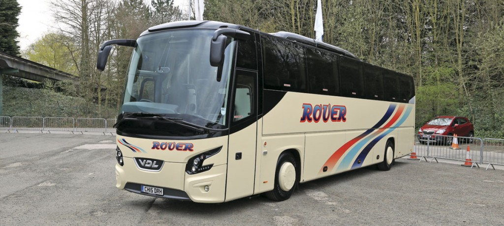 Rover European's VDL Futura FHD2 exhibited by Moseley in the South