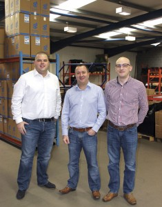 Sales Manager, Rob Warner; MD, Kevin Booth and Operations Manager, Tony Giles