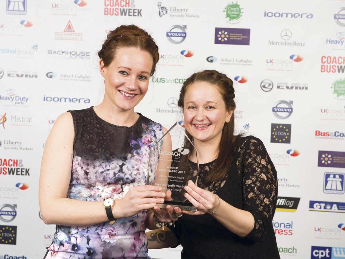 Sisters Faye and Jodie Waring shared the Unsung Heroes Gold award