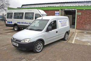 The Vauxhall van used for errands