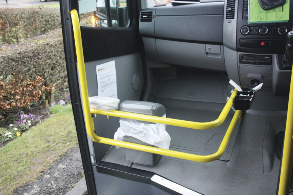The area alongside the driver is fitted with a substantial luggage pen