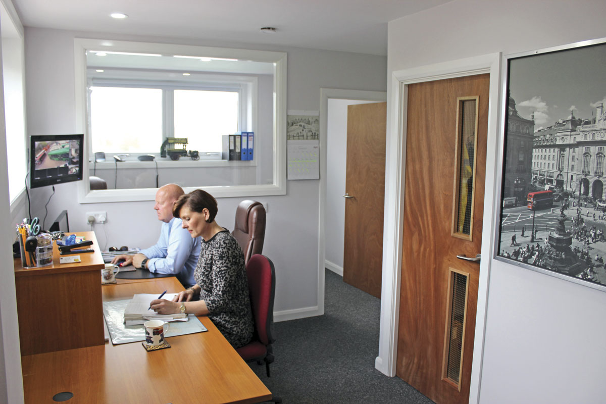 The first floor office is the hub of the new premises