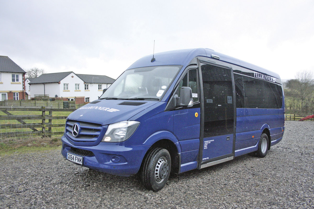 The first production EVM Community built for Fellrunner Village Bus Ltd.