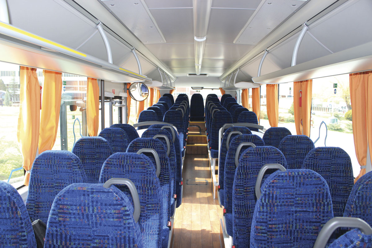 The interior of the 12.3m Intercity.