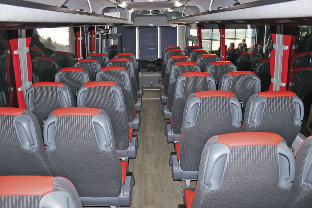 The interior of the Andrews coach from the rear