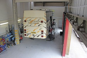 The workshops are kept busy preparing vehicles