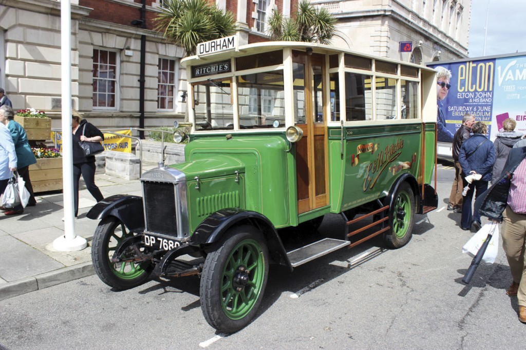 A 1925 Morris Country Bus owned by D. Ritchie of Hetton-le-Hole, Co Durham who also had a Morris charabanc and a steam tractor participating in the Victorian Extravaganza