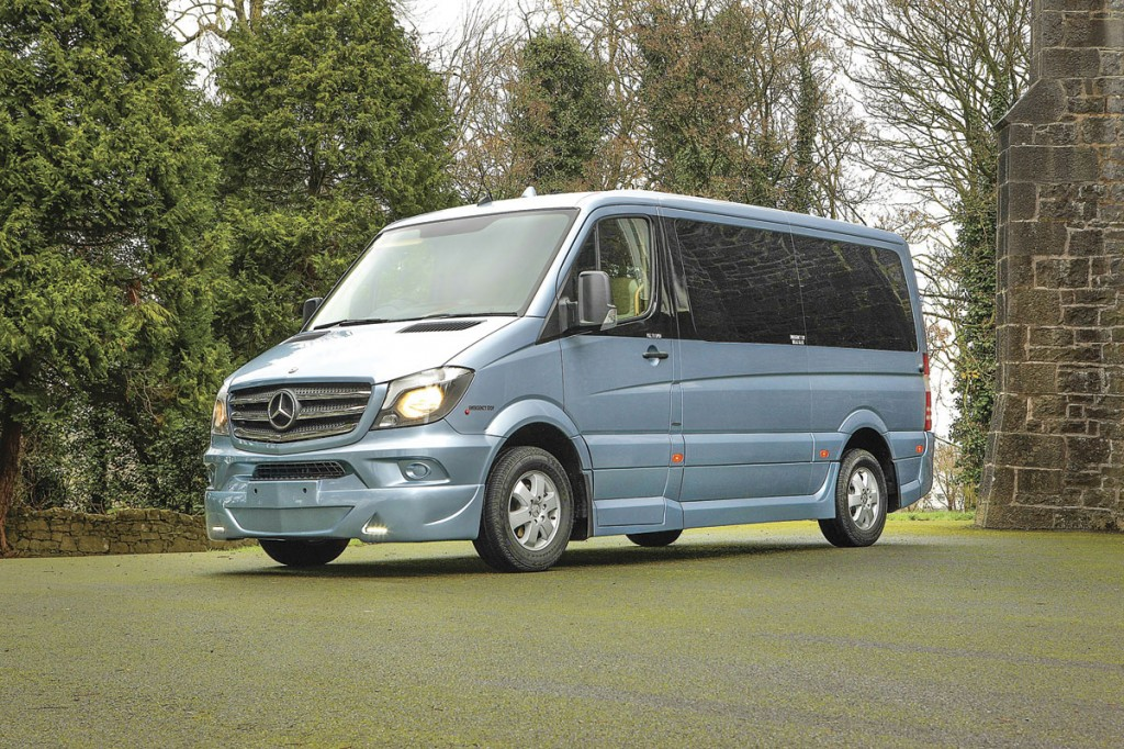 A super luxury conversion of a Sprinter 316 for Kennedy Coaches of Annascaul, Ireland