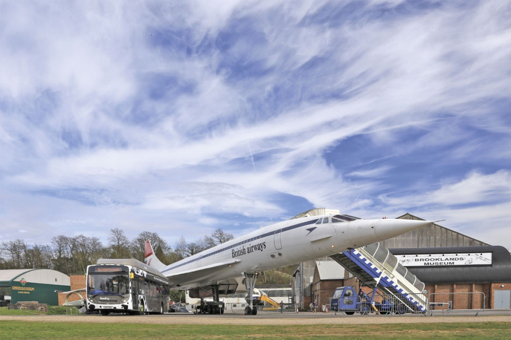 At the project's Brooklands launch, 'Bushound' was displayed alongside another speed icon, Concord.