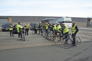 Cycle Confident instructors address the Golden Boy drivers
