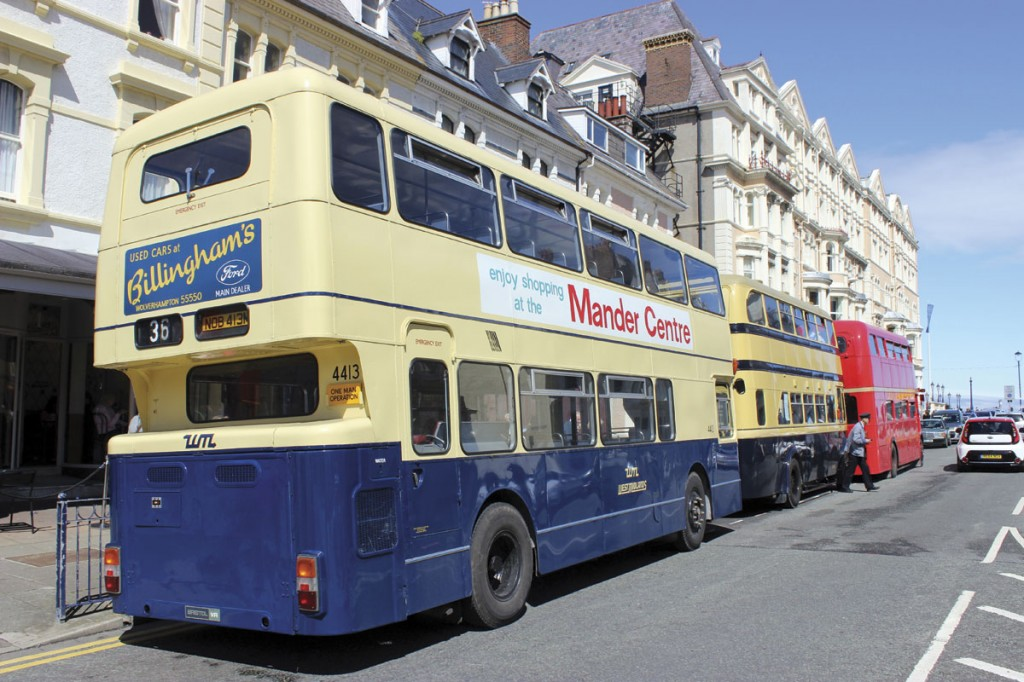 Distinguishable by the short rear bustle as a Bristol VR rather than one of the much more numerous Fleetlines with similar MCW bodies in the West Midlands PTE fleet is this preserved example