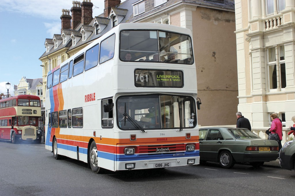In the old Stagecoach stripes was this Alexander RL bodied Leyland Olympian from the Ribble fleet