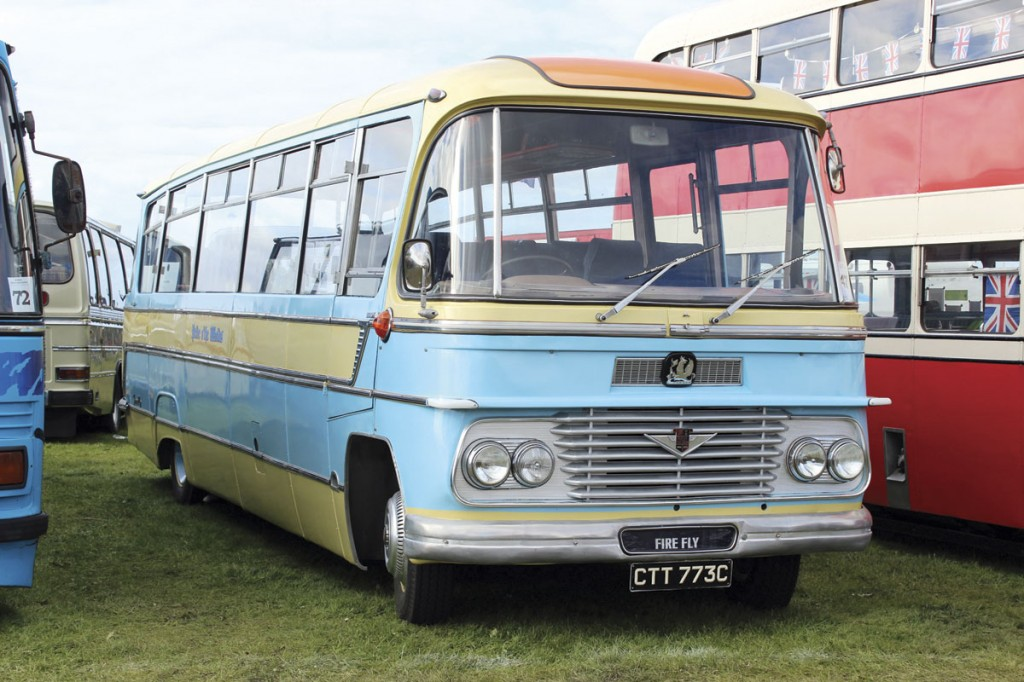 It was a show debut for George Atkin's 1965 Duple Firefly bodied Bedford SB5 which was a basket case before Kenny and Ray Walsh along with Chris and Darrell Kershaw resurrected it. And I said it couldn't be done