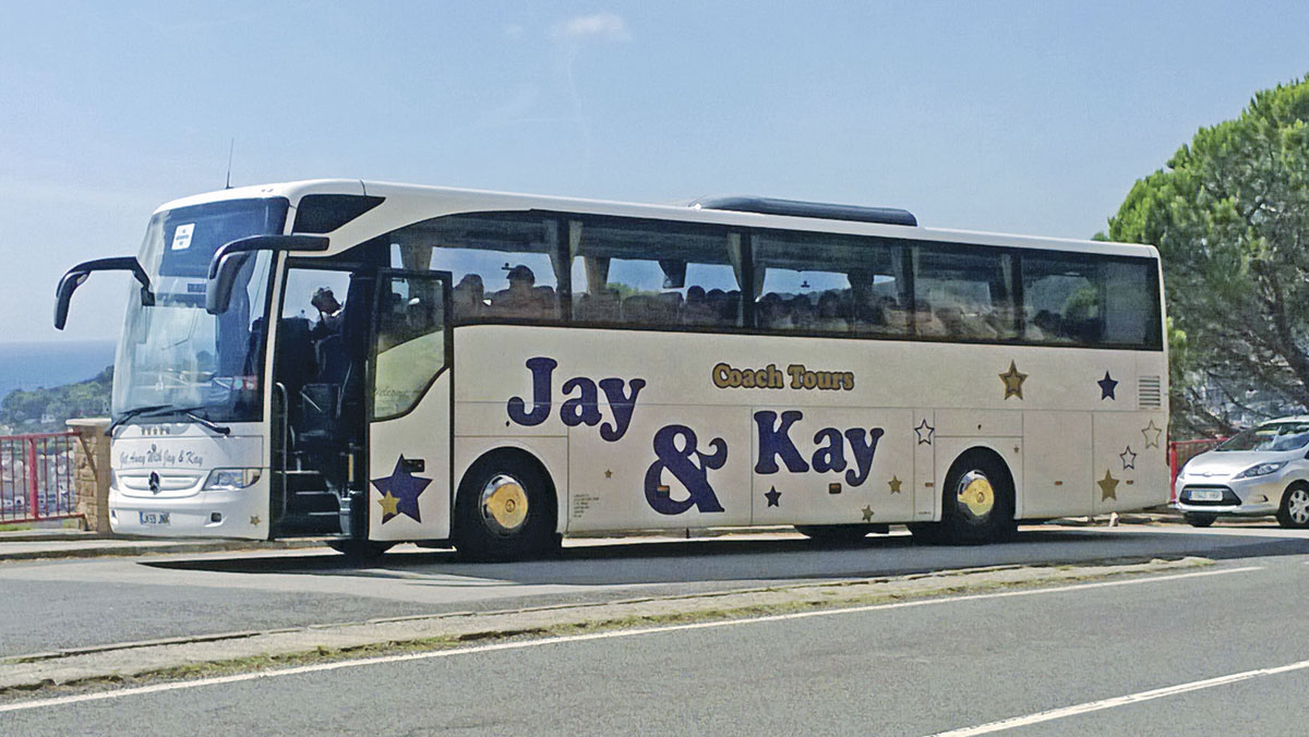 Jay & Kay's first ever brand new coach was this Mercedes-Benz Tourismo purchased in 2009 and still in the fleet