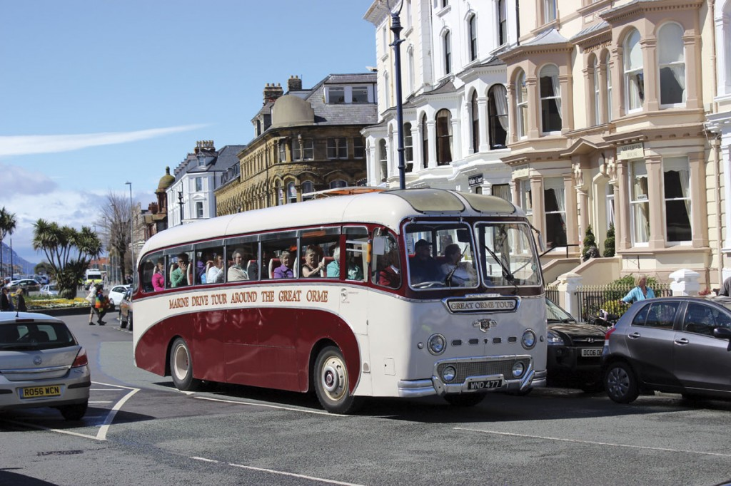 Not part of the rally but in action on the Marine Drive Tour around the Great Orme was the Duple Britannia bodied Leyland Tiger Cub of Alpine Travel which was carrying a full load