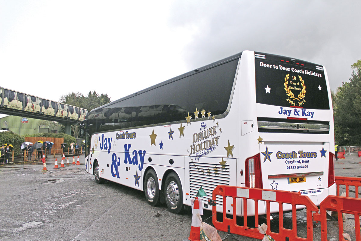 Participating in the UK Coach Rally of 2014 at Alton Towers