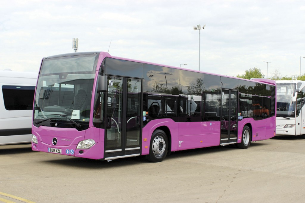 The UK bus philosophy is all about serving niches looking for 18-tonne heavyweight products. This Citaro is for Purple Parking at Gatwick