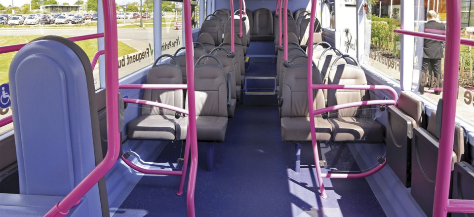 The Versa EVs have 36 E-Leather trimmed seats including six tip-ups in the wheelchair and buggy bays