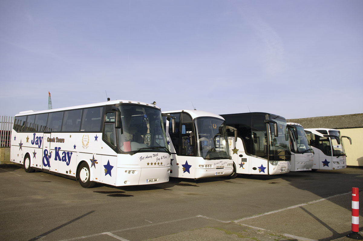 The full sized coach fleet a year ago