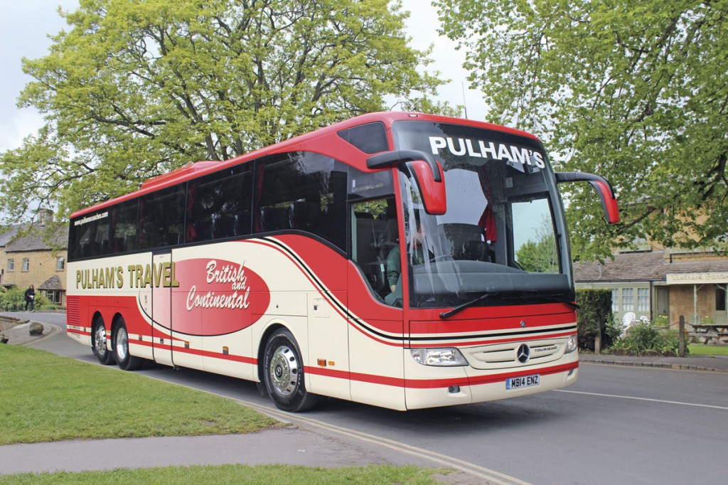 The most recent addition to the coach range is the Tourismo range is the tri-axle 13m Tourismo M, the first examples of which were supplied to Pulhams Coaches last summer