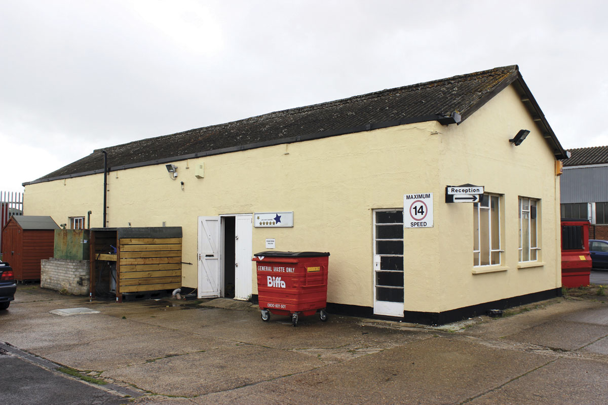 The office building at the depot premises in Erith