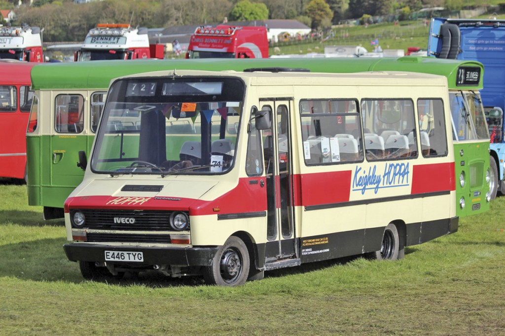 There are a growing number of minibuses in preservation, among them this ex West Yorkshire Road Car Co Keighley Hoppa Iveco Daily 49-10 with Robin Hood body