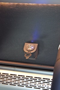 This vehicle was fitted with the optional USB and charging ports at each seat