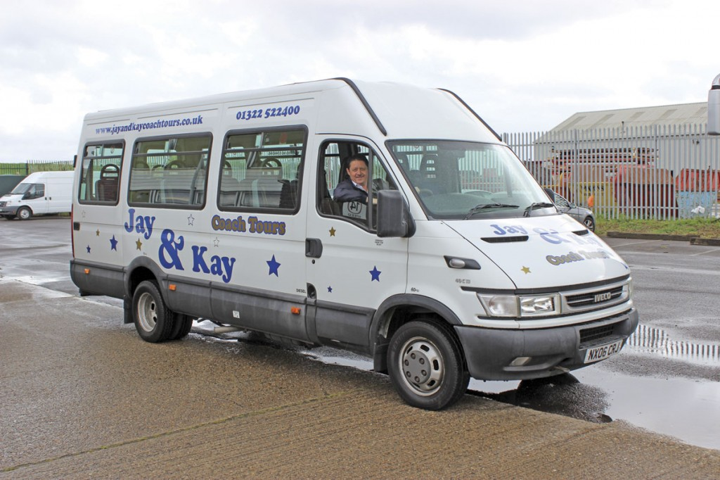 Two Iveco Daily minibuses are operated. This is the more basic of the pair