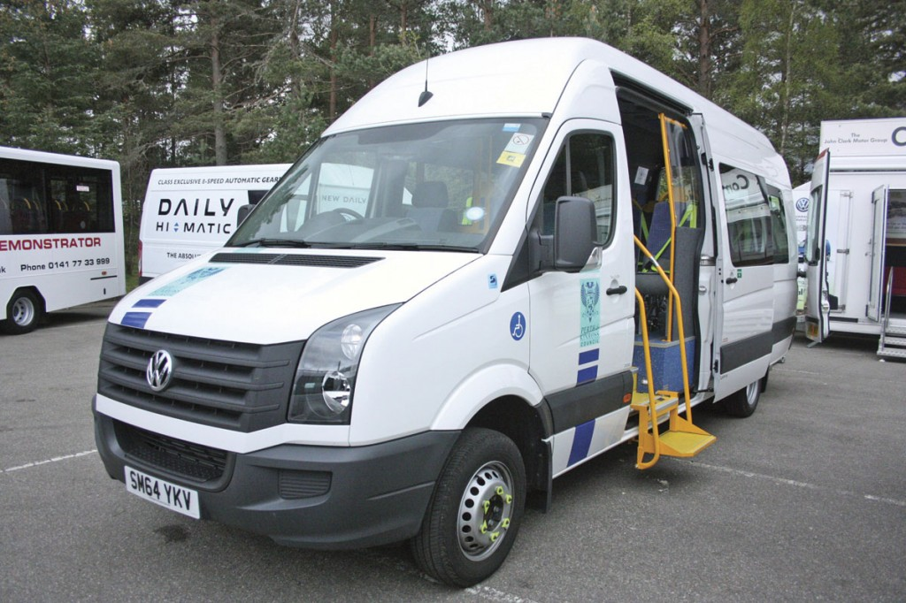 A VW Crafter CR50 accessible minibus by Stanford Coachworks sold through the John Clark Group to Perth & Kinross Council