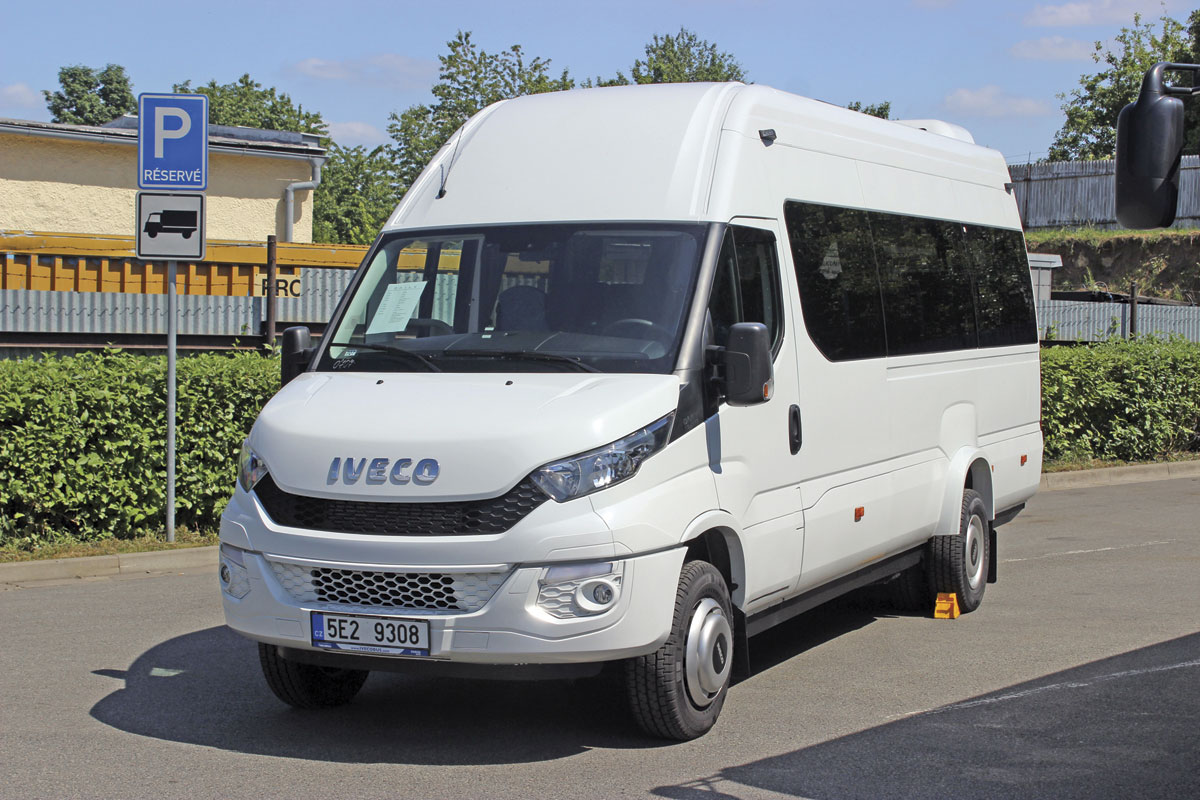 A left hand drive 19-seat Tourys version of the New Daily